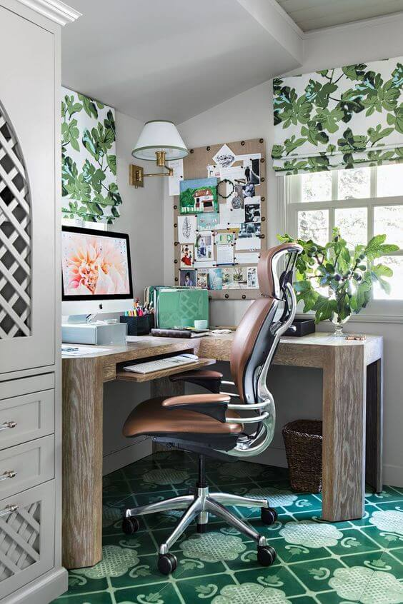 eclectic modern home office