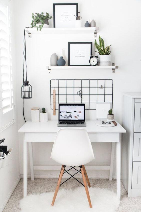 minimalistic scandinavian home office
