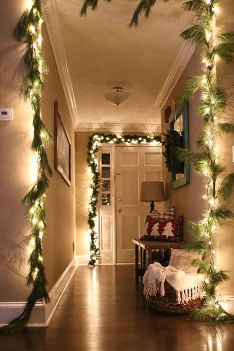 christmas lights decor livingroom