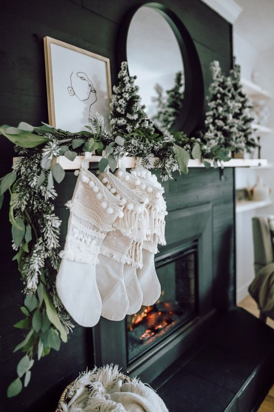 mantle idea with garlands