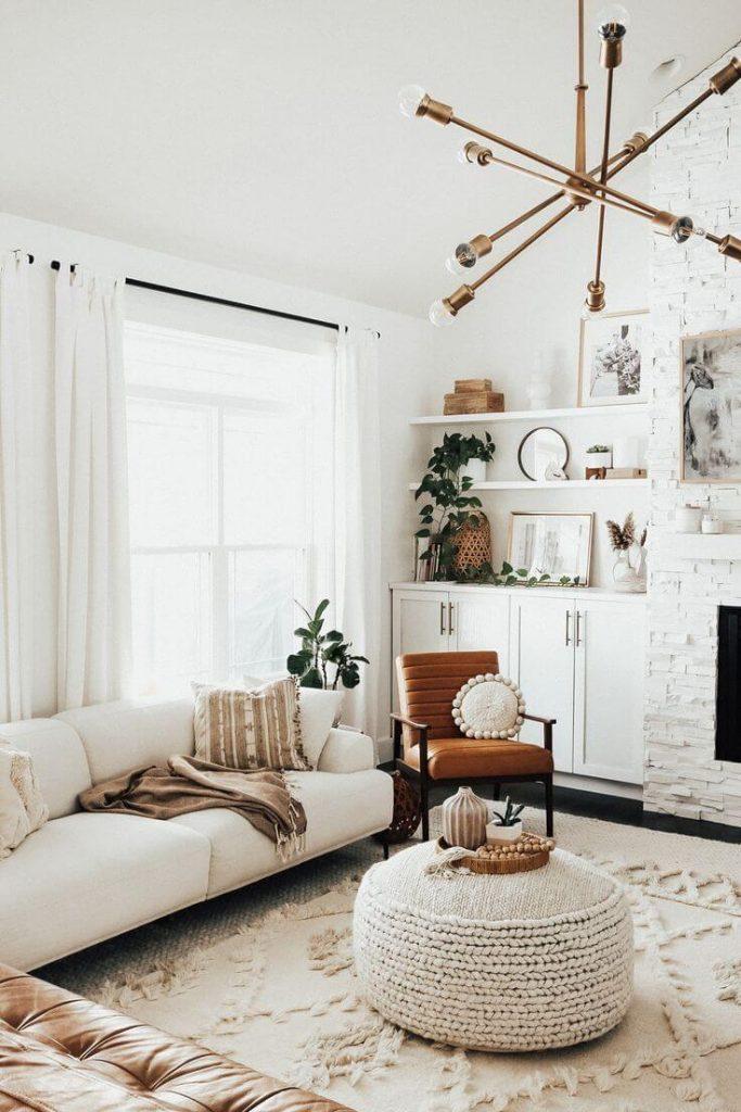 use an ottoman as coffee table
