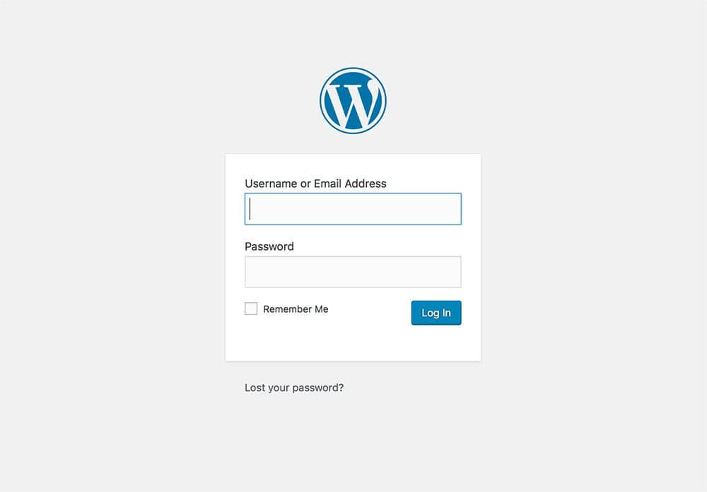 how to login wordpress
