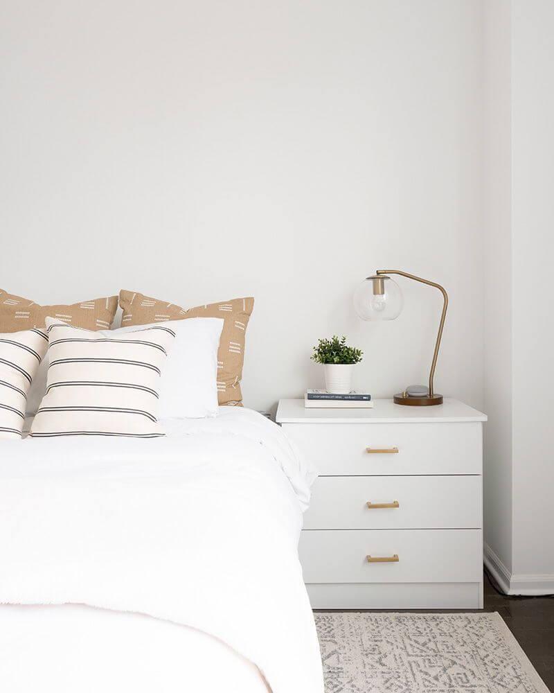 limit clutter in bedroom