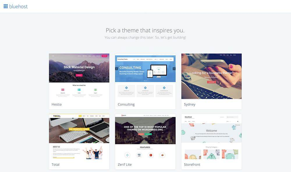 pick a theme for your wordpress blog