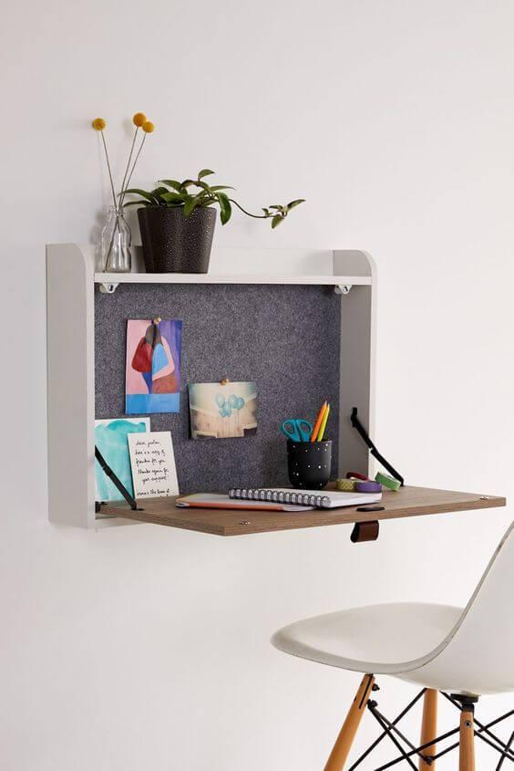tiny wall mounted desk