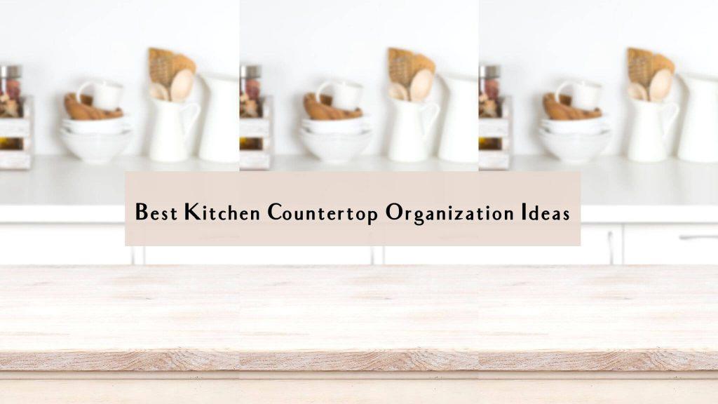 small kitchen counter organization