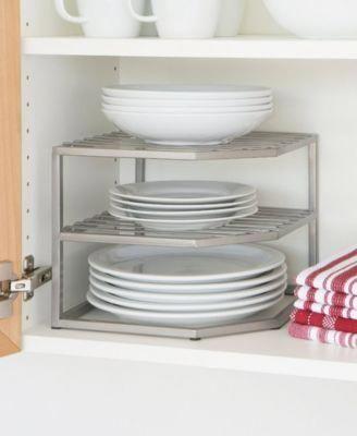 dish stacker for cabinet corner