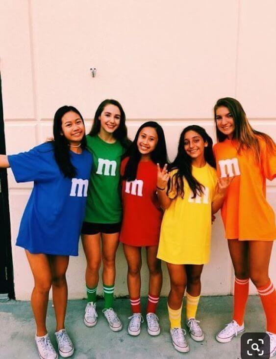 m&ms college halloween costumes for groups