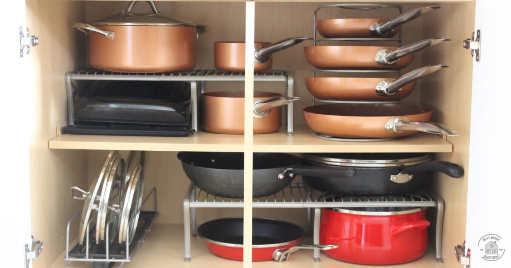 pots and pans rack cabinet