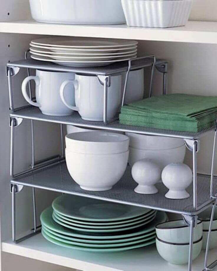 plate rack cabinet organizer