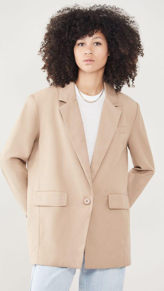 beige blazer outfit ideas
