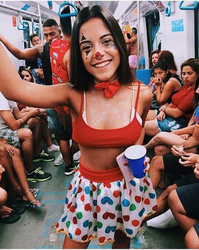 clown costume girl