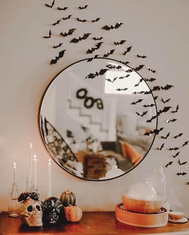 halloween mirror decoration