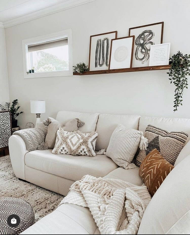 decorating ideas above the couch