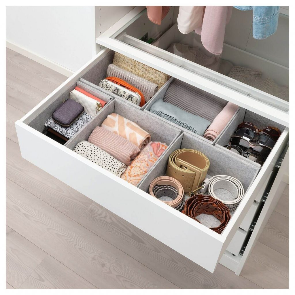 how to organize accessories in drawer