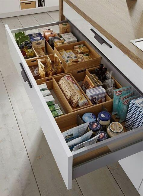 pantry organization system for drawers