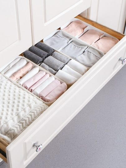 shallow drawer storage