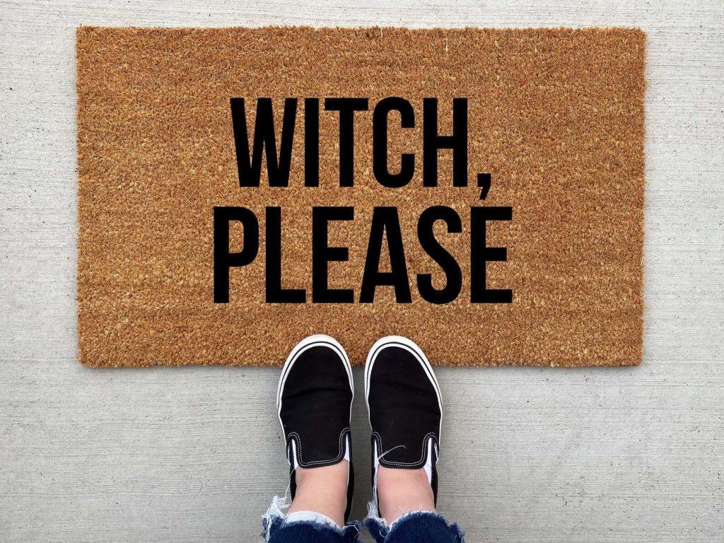 witch doormat