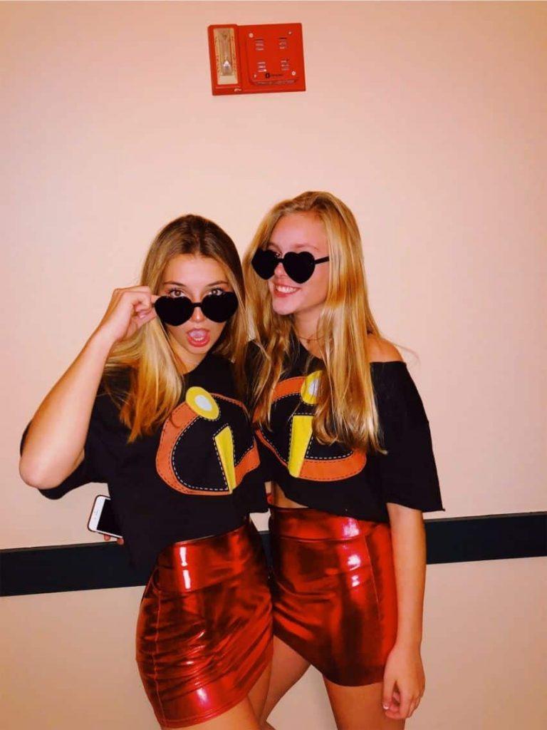 College Girl Duo Halloween Costumes