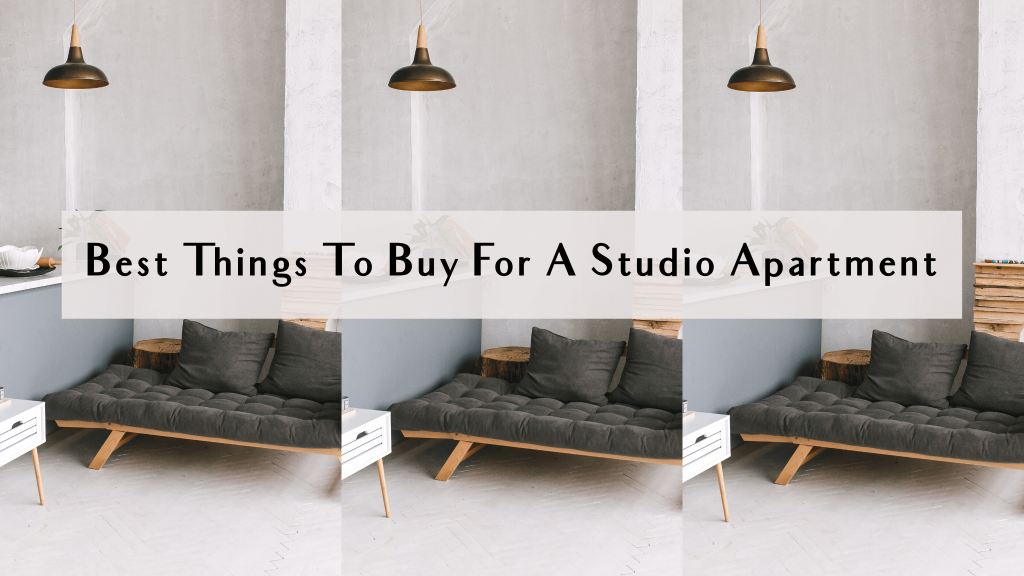 things to buy for a studio apartment