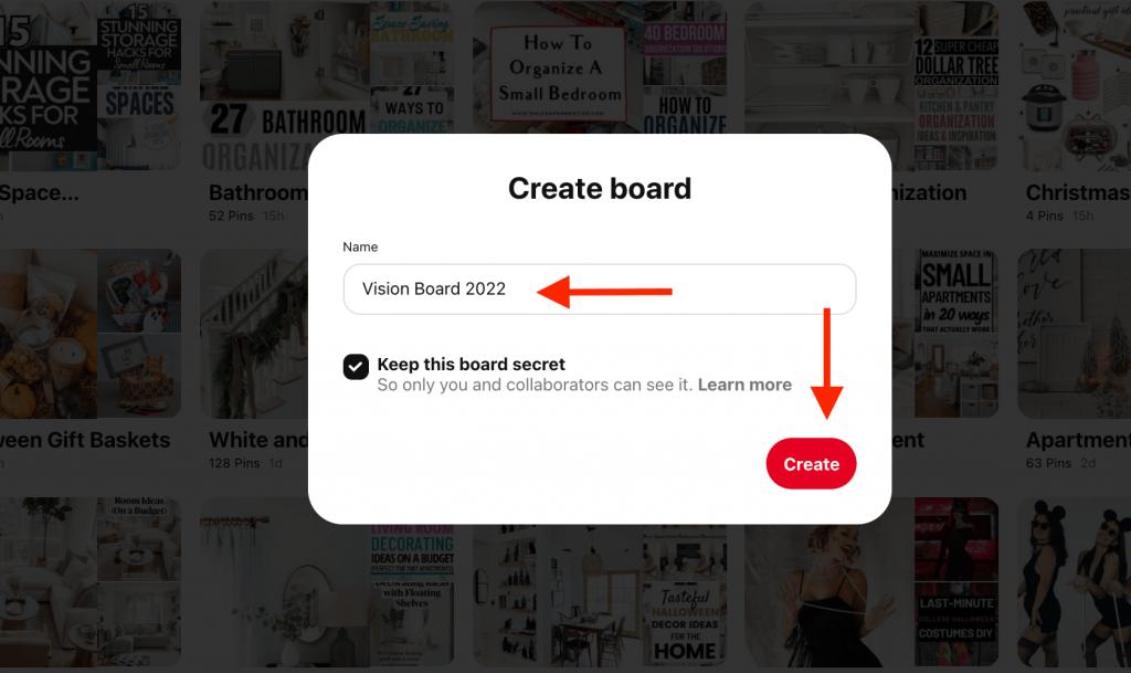 vision board 2022